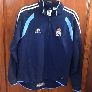 Adidas jacket half zip Real Madrid EUC